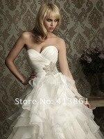 бесплатная доставка новый белый / кот милая свадебное платье платье свадебное платье на размер