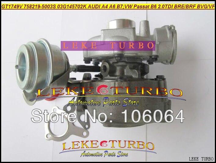 GT1749V 758219-5003S 758219 03G145702K Turbo Turbocharger For AUDI A4 B7 VW Volkswagen Passat B6 2.0L TDI 2004- BRE BRF BVG BVF 140HP (1)