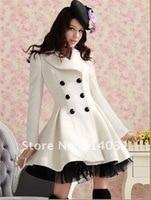 последние стиль нью-зима женщины белый плащ платье куртка парка тонкий-подходят пальто верхней одежды размер ~ хl