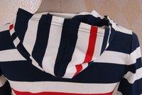 2011new корейский знак полосатый свитер с капюшоном, женская мода свитер горячая распродажа бесплатная доставка