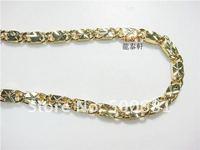 красивый 18 к позолоченные мужская ожерелье настоящее блеск бесплатная доставка опт или розница