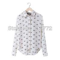 осень стиль дизайнер Riot Leopard Print user рубашки полный длинный рукав высокая улица блузка bf0011