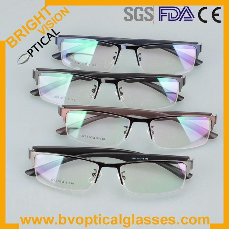New model half rim metal optical frames glasses2262he