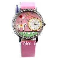 бесплатная доставка корея с полимерной глины ретро мода женские часы принц романтическая любовь часы дешевле