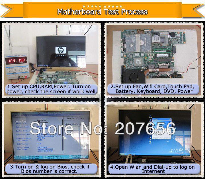 מוכר לוח אם מחשב נייד עבור ASUS N61JV לוח האם ב-100% נבדק