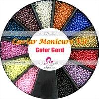 икра гвозди искусство маникюр педикюр профессиональный маникюр комплект 24 цвета 24 банки / лот 6, 5 г / банка