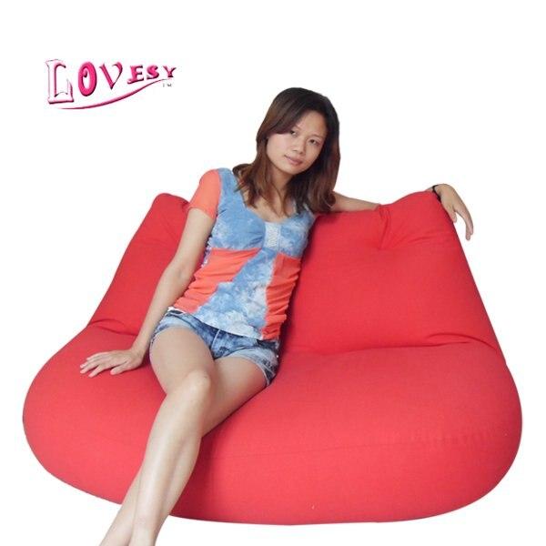 Visi Redlip Shape Bean Bag Chair For Lovers Cover Only In Living