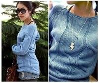 новое постулат бесплатная доставка cores стиль стоит женская свитер в черный / синий