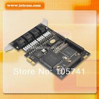 линий te410p для модуль elastix trixbox или звездочка, цифровой карты линий, ISDN и карты для ИП pbxte410p 4 разъём Е1 / Т1 / J1 можно 3.3 в на PCI карты