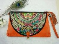 новые старинные этнические стиле вышитые сумки, мода леди из естественной кожи сетки, сумки / Ван