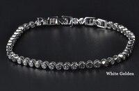 регулируемая белый позолоченные швейцарский циркон бриллиантовый браслет мода бесплатная доставка