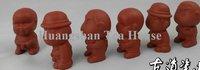 бесплатная доставка 6 шт./лот китайской керамики прекрасный мочиться глиняная фигурка, глина кукла, пи мальчик, монах, доктор, искусство и ремесло