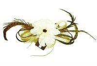 мода аксессуары для волос, шляп женщин, бесплатная доставка, featherflower чародей фата мини-цилиндр