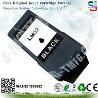 бесплатная доставка заменяемая чернильный картридж для принтера Lexmark 18c0032 32 картриджа принтера