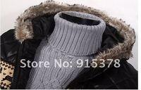 мужская меховой стоит шляпа пуховик мода теплое пальто с caption синуса + sholeрозничные hoodoes + бесплатная доставка 099