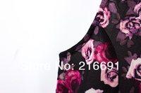 новинка европа женская стильный элегантный роуз рукавов цельный платье свободного покроя тонкий плиссированные женская платье # e090