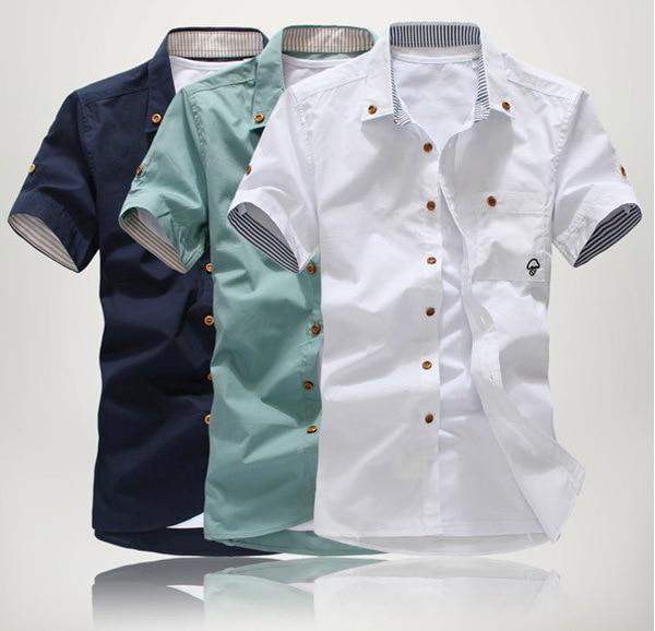 Aliexpress.com : Buy New Casual shirts fashion male slim short ...