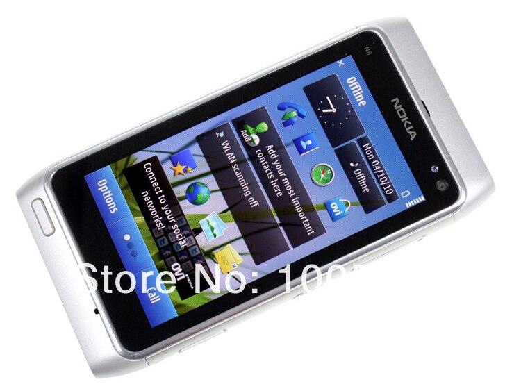 משופץ מקורי-Nokia N8 טלפון נייד 3G, WIFI, GPS 12MP מסך מגע 3.5