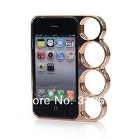 5 шт./лот костяшки чехол для для iPhone 4 4 г 4S с 8 цвета, костяшки чехол для iPhone 4 и 4S с розничной коробке + бесплатная доставка + прямая поставка