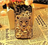 бесплатная доставка шику леопард чехол для iPhone 5 с горный хрусталь шику сотовый телефон чехол для iPhone 4 и 4S