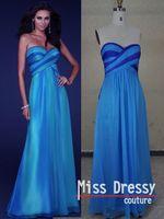 праздничная распродажа реальный образец линии милая рукавов шифон синий вечерние платья
