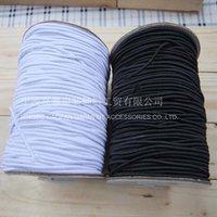 бесплатная доставка! 1.5 мм белый черный шнур и эластичный, 100 м