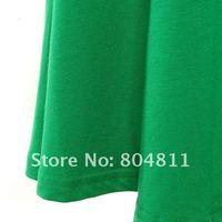 бесплатная доставка женщин сбывания хлопок модальные клеш-хем платье-линии длинная юбка # 712165
