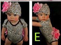 ropmer большой цветок мода ребенка ползунки комплект шляп