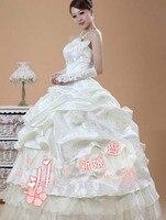 бесплатная доставка невесты принцесса свадебное платье ручной работы блесток королевский свадебное платье ракетки q20034 в - вид