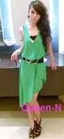 большое продвижение по службе женщин шифоновое платье с асимметричной стиль-плеча бесплатная доставка
