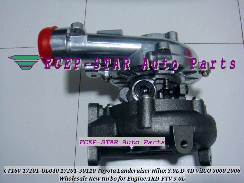 CT16V 17201-OL040 17201-0L040 Toyota Hilux 3.0LD ViIGO 3000 1KD-FTV turbo turbocharger (5)