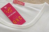 бесплатная доставка, горячая распродажа женская мода с ди Recover о-бюстгальтер шеи медведь peat футболки топ одежда, женская футболка / блузки, x2261