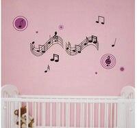 мода наклейки на стены декор главная наклейки пвх виниловый искусство украшения резные zz309 музыка примечание 60*120 см