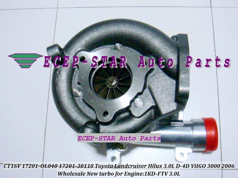 CT16V 17201-OL040 17201-0L040 Toyota Hilux 3.0LD ViIGO 3000 1KD-FTV turbo turbocharger (7)