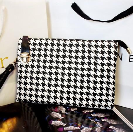 2015 горячая распродажа мода бренд леопарда леди день сцепления лен кожа бесплатная доставка