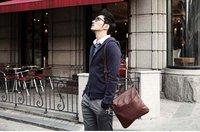 корейский полиуретан кожа человек мешок мужчины в компактный рюкзак, наплечная сумка диагональная пакет для iPad пакет