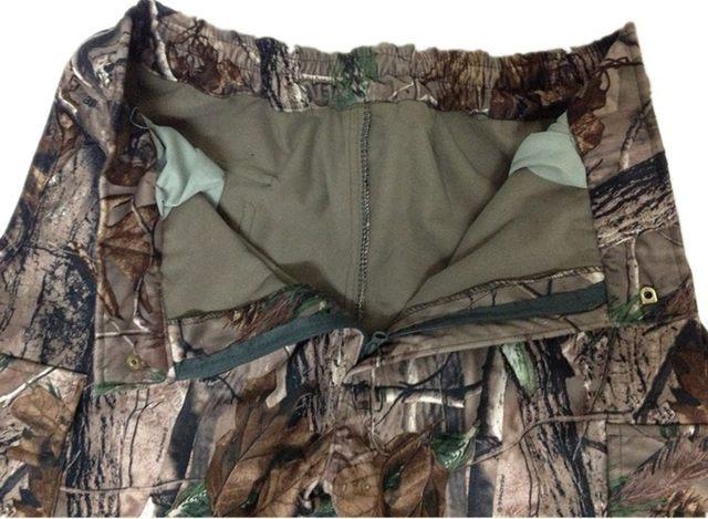 Jungle Camo Fleece Windproof Hunting Hunter Clothes Pants Camouflage5