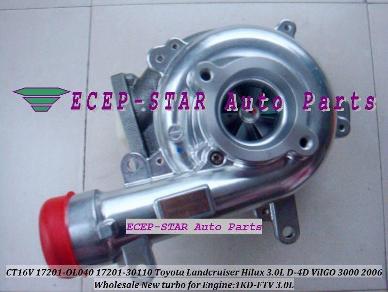CT16V 17201-OL040 17201-0L040 Toyota Hilux 3.0LD ViIGO 3000 1KD-FTV turbo turbocharger