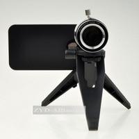 бесплатная доставка распродажа! алюминиевый сплав 12-кратным оптических линз телефон телескоп объектив с штатив для топ телефон