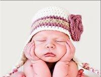 КПП автомобиля узел ребенок по уходу за детьми шапка кепка новый белый / фиолетовый 0 - 6 мес