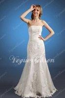 реальный образец бал платье повод-бюстгальтер провода без рукавов кристалл суд поезд Уэйд платье