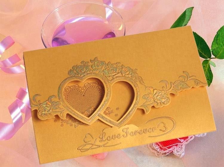 Free shipping 50pslot new invitationwedding invitationsmarried 34g stopboris Choice Image