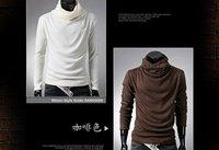 Рождественская подарок бесплатная доставка горячая распродажа с длинным рукавом мужские рубашки белый, красный, черный, синий, коричневый, темно-серый