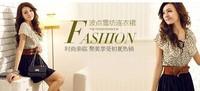 с ремень! корейских женщин лето шифон мини платье с коротким рукавом горошек талия бежевый + черный готовые на складе бесплатная прямая поставка # 1008