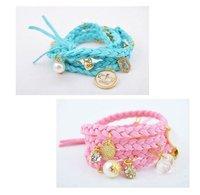 бесплатная доставка! мода колики любят клуб корон Бали жемчужный браслет браслет, оптовая продажа