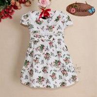 clothese для детских девушка платья цветок хлопка принцесса платья для девочек чудик платье детской одежды c121022-9