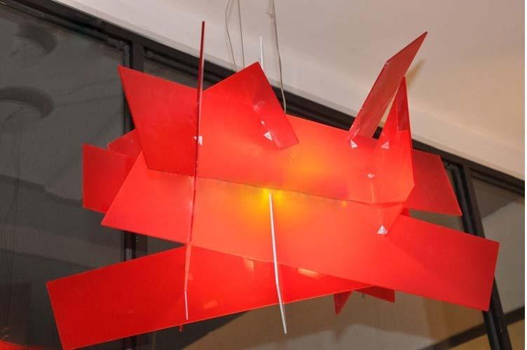 Moderne Lampen 66 : Marke förderung cm moderne rote lampe designe big bang acryl