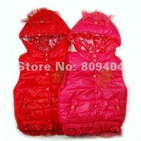 sunlun бесплатная доставка детей пальто / девочек бантом жилет / пуговицы для детской одежды жилет / медведь украшения / с капюшоном