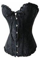 новый сексуальное корсеты женщин-розовый с бантом черный корсет юбка платье элегантный корсетные корсеты талии обучение корсет бесплатная доставка