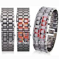 бесплатная доставка часы со светодиодами РЭС Lava металл 8096